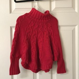 Girls red sweater cape.  Size 4T Carters brand